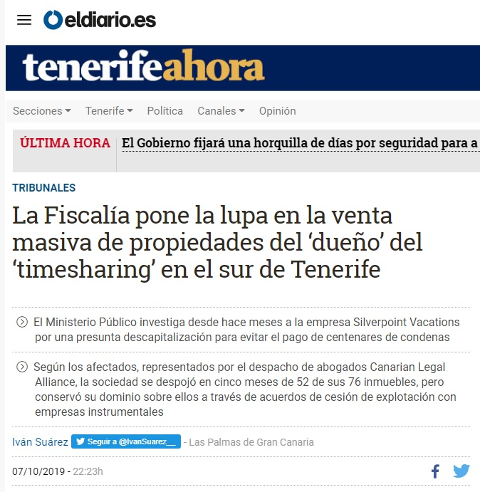 More News on Silverpoint Published by El Diario