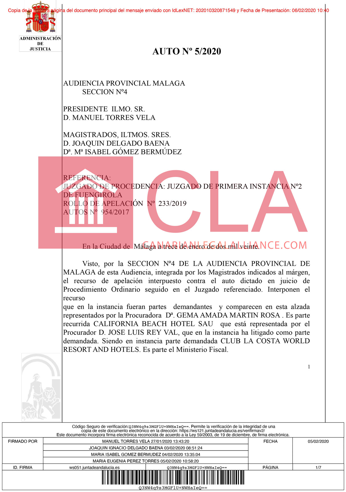 A Matter of Jurisdiction: Court Rules Against Club La Costa