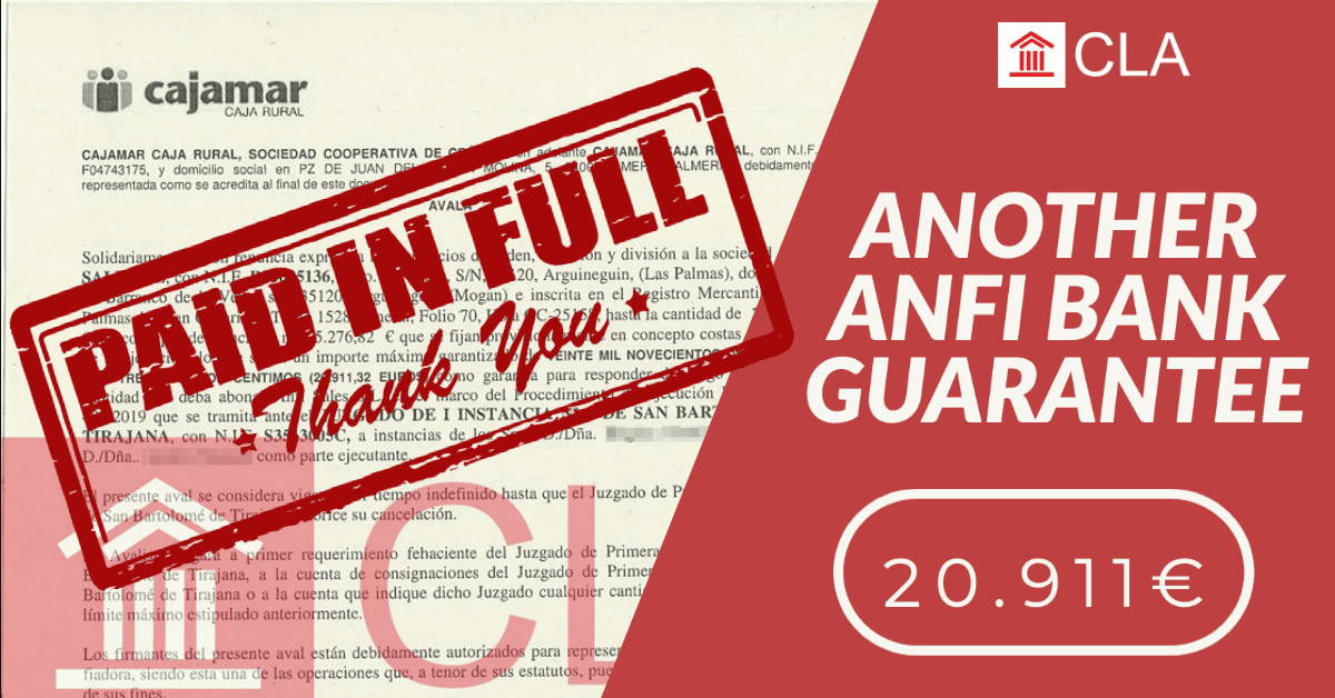 ANOTHER ANFI BANK GUARANTEE 20.911€
