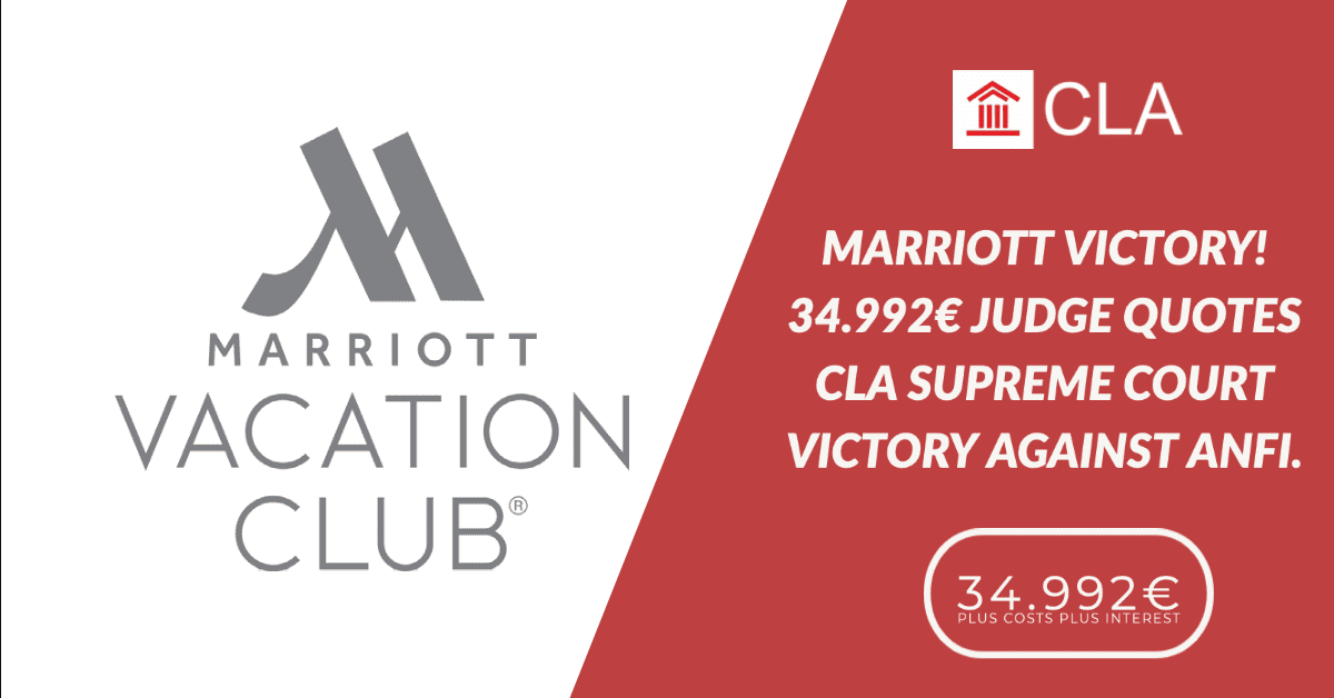 MARRIOTT VICTORY 34.992€ JUDGE QUOTES CLA SUPREME COURT VICTORY AGAINST ANFI.