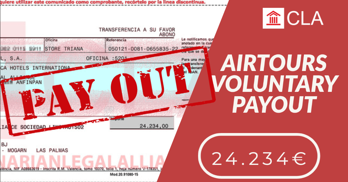 AIRTOURS VOLUNTARY PAYOUT 24.234€