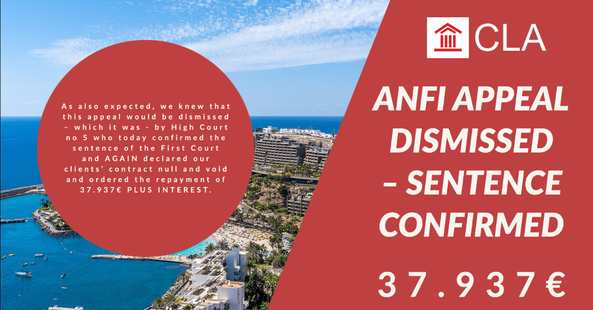 ANFI APPEAL DISMISSED – SENTENCE CONFIRMED – 37.937€